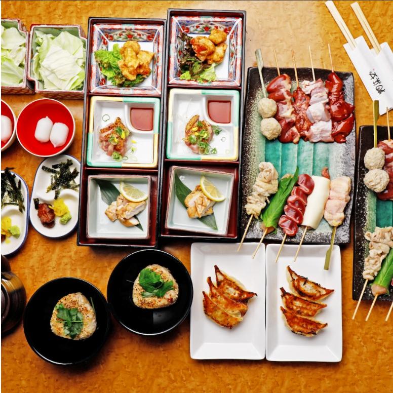 上質な地鶏料理で贅沢な宴会を楽しむ『大和肉鶏食べ尽くしコース』全6品